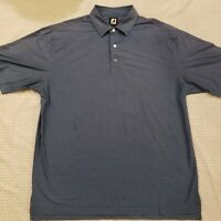 FootJoy Men's XL Blue Houndstooth FJ Performance Golf Polo Shirt Stretch