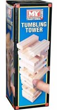 Mini Tumbling Tower Wooden Stacking Towering Small Blocks Game 48Pcs Family Fun