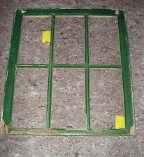 One Top Old Vintage Tt6-G-W-C white & green 6 pane 2 cracked glass window house