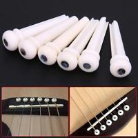 1 Set Bone Bridge Pins Nail Nut Saddle Part For Acoustic Guitar Universal GA