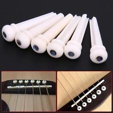 1 Set Bone Bridge Pins Nail Nut Saddle Part For Acoustic Guitar Universal ZH