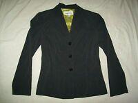 DANNY & NICOLE Charcoal Grey Dress Jacket Blazer Size 10 NICE Double collar work