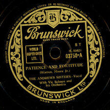 ANDREWS SISTERS  Patience and fortitude / Red River Valley      78rpm      S8420