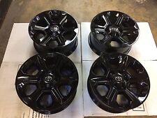 """17"""" Toyota 4 Runner Tacoma Tundra  Alloy Wheels Black Powder Coat 75153 Set Of 4"""