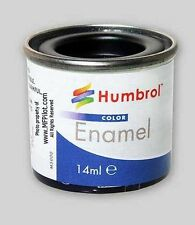 MATTE BLACK HUMBROL Enamel Model Paint - 14ml Tin #33