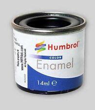 MATTE BLACK HUMBROL Enamel Model Paint - 14ml Tin #33
