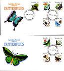 1983 Australian Animal Series III Butterflies on 2 FDC's - Aberdeen St Perth PMK