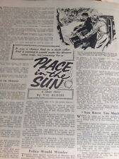 T1-6 Ephemera 1958 Short Story Place In The Sun Vic Aldiss