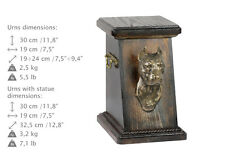 American Staffordshire Terrier Cropped, dog urn, cold cast bronze, ArtDog, Ca