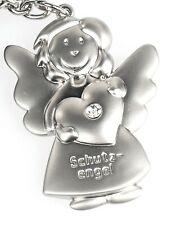 Formano Schlüsselanhänger Schutzengel 655424 mit Herz und STRASSSTEIN