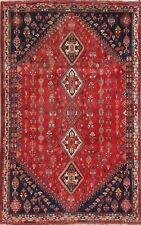 One-of-a-Kind Nomadic Tribal Handmade Wool Oriental Area Rug Carpet 6 x 9