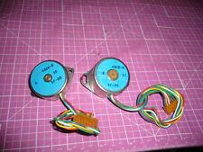 Lot Of 2 Small Stepper Motors 6 V Fuji Sms35 4803 M Sms35 4804 B 10amp13 Ohm