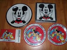5pc Lot Beach Mickey Mouse Birthday Party Goods Multi-color NOS