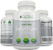 Selenium 200mcg 365 Vegan Capsules Thyroid, Heart, and Immune System Support