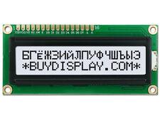 5V Black on White 16x2 Russian/Cyrillic Character LCD Display Module w/Tutorial