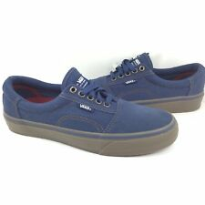 New Vans Rowley Solos Pro Size 6.5 Men Navy Blue Gum Canvas Suede Skate Shoe 7d4b2d015