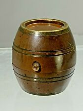 """Antique French Bronze Traveling Inkwell """" The Barrel"""""""