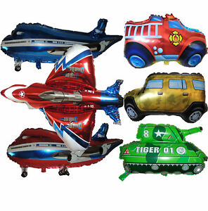 VEHICLE BALLOON BIRTHDAY BOY PARTY LOLLY BAG GIFT CENTERPIECE DECORATION FAVOR