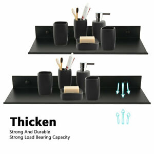 Floating Shelf Brackets Towel Rail Wall Mount Bathroom Rack Display Shelves