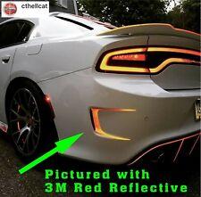 REFLECTIVE  Custom Rear Bumper Vent Decals Fits Dodge Charger 2015-2020
