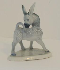 Vintage Donkey Figurine Statue Mule Zsolnay Hungry Democrat