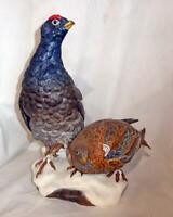 Boehm Porcelain Bird Black Grouse LE Figurine MINT