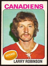 1975 76 OPC O PEE CHEE #241 LARRY ROBINSON EX-NM MONTREAL CANADIENS HOCKEY CARD