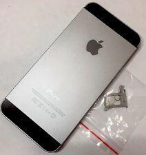 NUOVO iPhone 5s Sostituzione Alloggiamento in Metallo RETRO POSTERIORE COPRIBATTERIA NERO GRIGIO SPAZIO