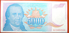 Yugoslavia 5000 Yugoslavian Dinara 1994 Paper Money Belgrade AU+++ Conseq Serial