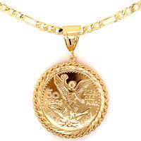 50 Pesos 14K Gold Plated 1821-1947 Centenario Coin Laminado With 26'' Chain