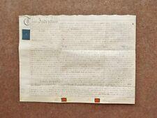 1795 Weston by Welland Northamptonshire Georgian Vellum Deed Document Indenture