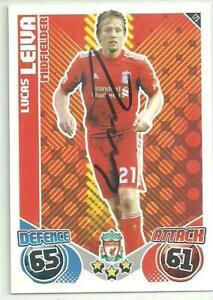Lucas Leiva - LIVERPOOL - Signed Match Attax 2010-11 Card [Green]