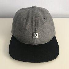 OBEY Propaganda 6 Panel Wool Hat Adjustable Strapback - Heather Gray/Black