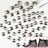 100PCS DIY Punk Pyramid Studs Nailhead Rivets Spikes For Clothes Shoes Bag Decor