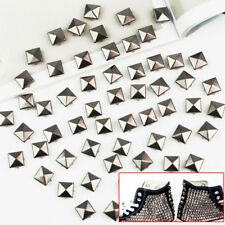 100PCS DIY Punk Pyramid Studs Nailhead Rivets Spikes For Clothes Shoes Bag Decor
