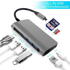 8 in 1 USB C Hub Type C Digital AV Multiport Docking Station for Macbook Pro,Mac