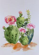 Succulents Original Watercolor Painting