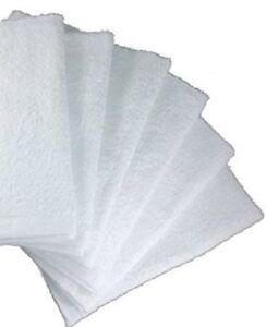 24 2dz 100% SOFT COTTON DELUXE WHITE HOTEL SPA HOME NEW WHITE WASHCLOTHS 12 X 12