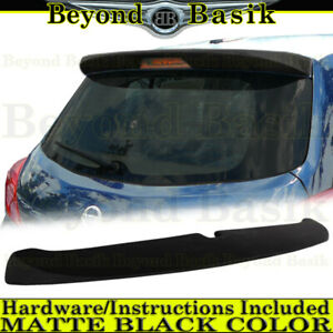 For 2007-2011 2012 Nissan Versa Hatchback Factory Style Roof Spoiler MATTE BLACK