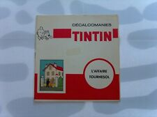 HERGE TINTIN LIVRET COMPLET DECALCOMANIES DAR L'AFFAIRE TOURNESOL TBE