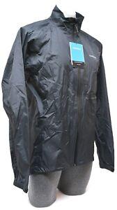 Shimano Packable Explorer Rain Jacket Men MEDIUM Black Cycling Road Bike Wind