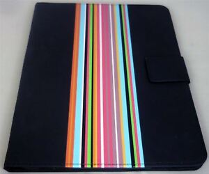 "Piccadilly Universal 9/10 9"" 10"" Inch Black & Striped PVC Tablet Case"