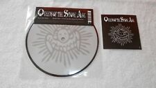"""QUEENS OF THE STONE AGE. BURN THE WITCH .7"""" PICTURE DISC + STICKER EX/EX."""