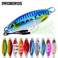 Details about  /5pcs Micro Fishing Lure Glow Metal Jigging Lure Slow Pitch Jigs Snapper 150//200g