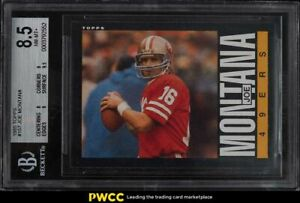 1985 Topps Football Joe Montana #157 BGS 8.5 NM-MT+