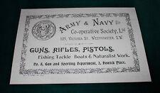 Army & Navy co-op PISTOLA Maker riproduzione carta Gun Case etichetta