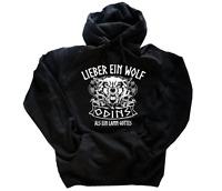 Lieber ein Wolf Odins als ein Lamm Gottes  Kapuzen-Sweat-Shirt HOODIE S-XXL