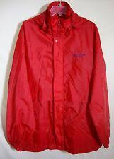 Speedo Red Windbreaker Hoodie Zip Front Mesh Lined Nylon Raincoat Men Medium M
