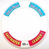 TRIK FISH 50 YARD - SALT WATER LEADER LINE WRIST SPOOL - CLEAR
