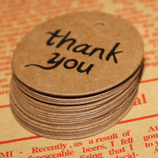 Thank You Brown Kraft Paper Stickers Label Party Wedding Gift Package Supplies